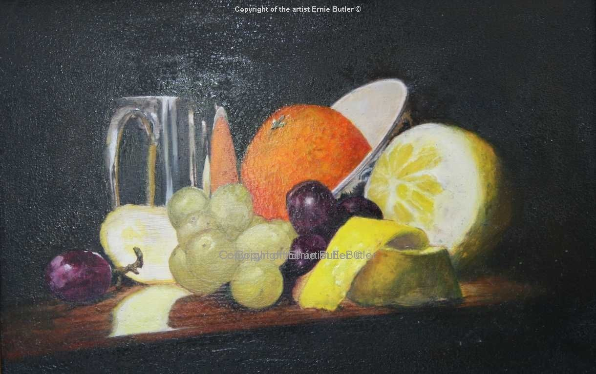 Oil painting print original Art still life flemish technique crackola