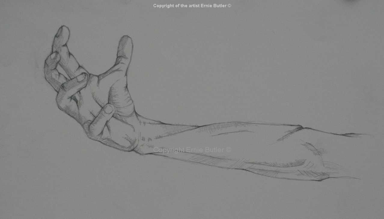Line drawing study Crucifixtion pencil
